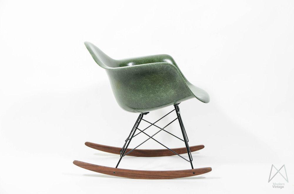 Eames Herman Miller RAR rocking chair glassfiber Forest