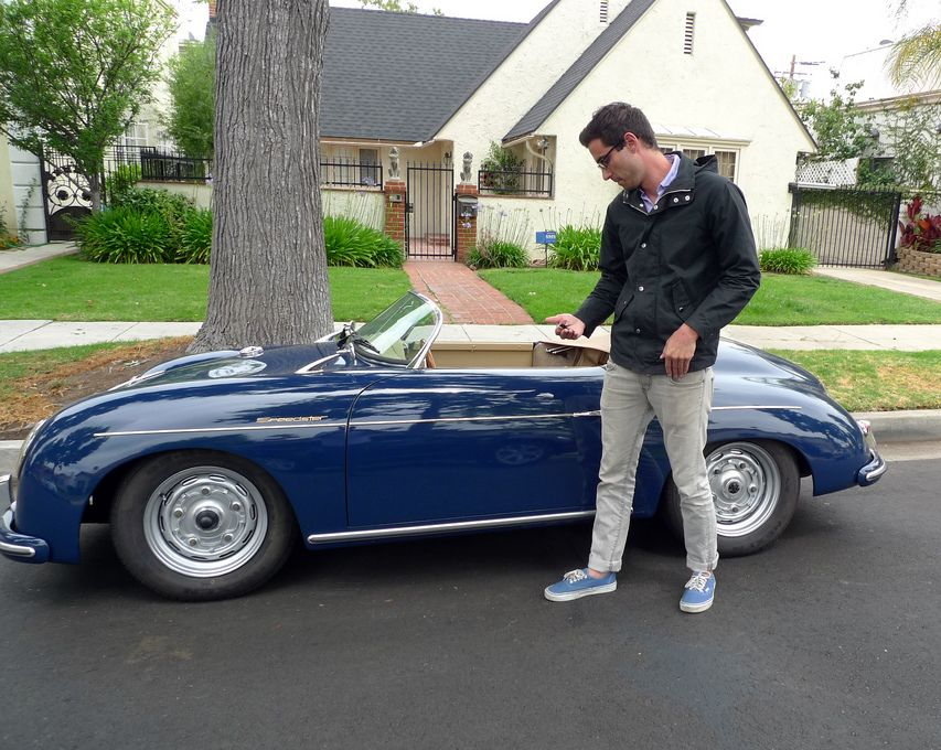Nick's car was custom built on an original 1956 VW frame by the guys at Automotive Legends in California, who also make reproduction versions of the Porsche 550 Spyder and a 550 Coupe.