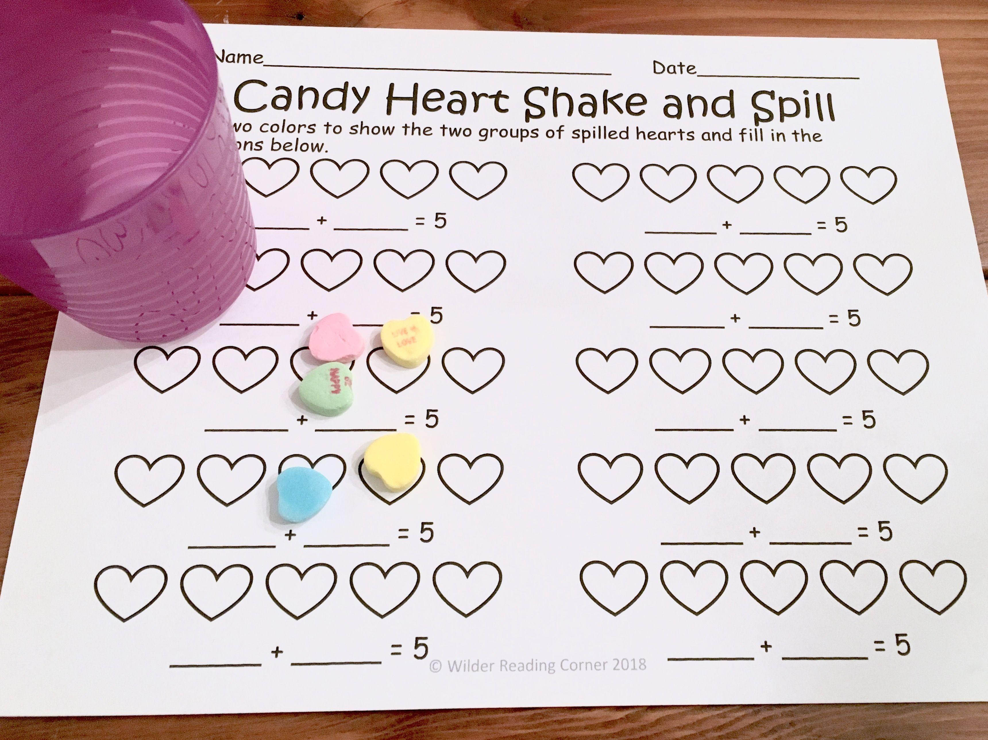 Valentine S Day Decomposing Kindergarten Math Center