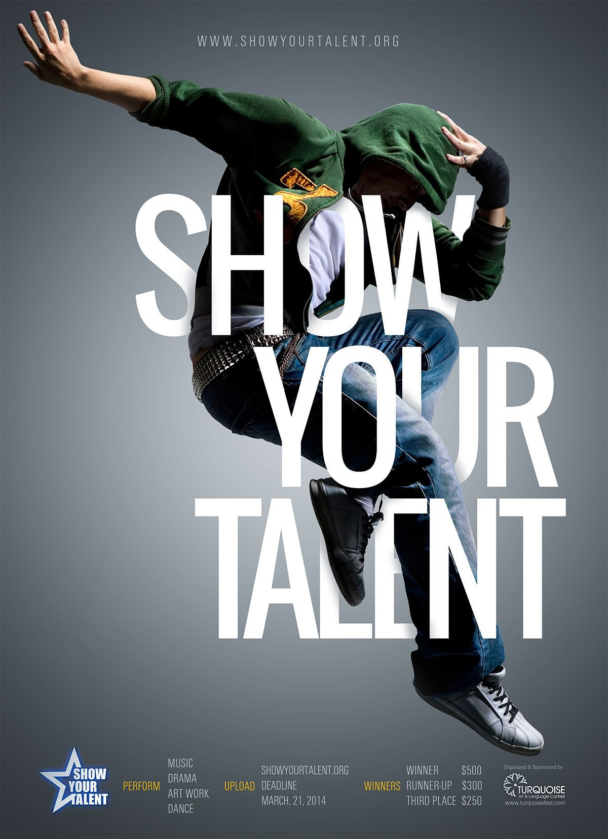 Show Your Talent Poster on Behance Dance poster design