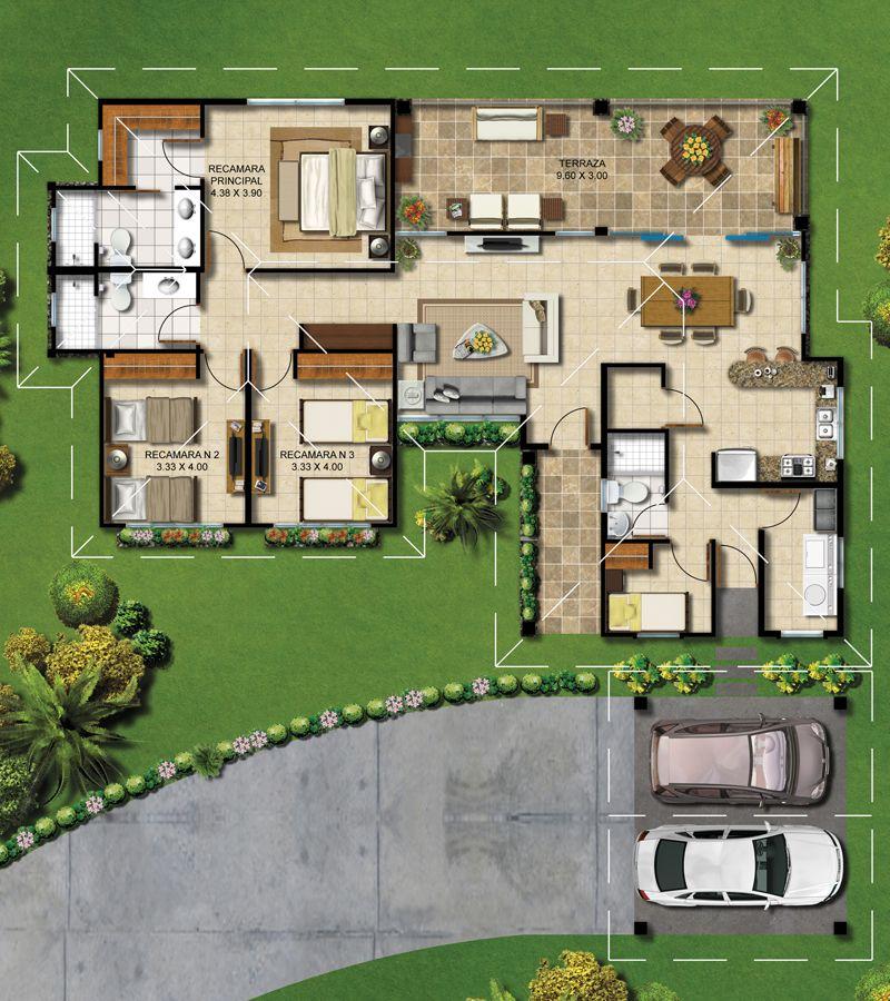 planos de casas tipo hacienda
