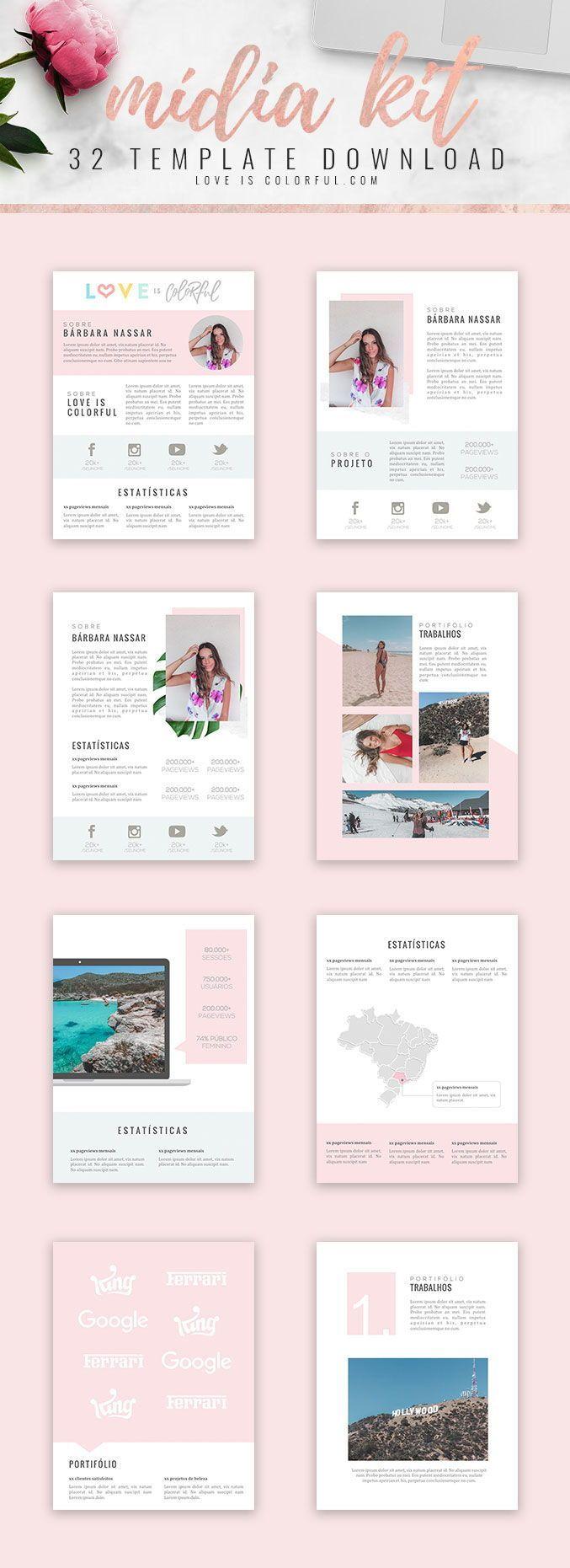 Template Midia Kit Projetos Midia Kit Como Criar Um Blog E
