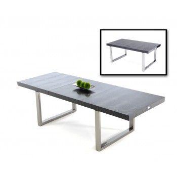 skyline modern black crocodile lacquer dining table home makeover rh pinterest com