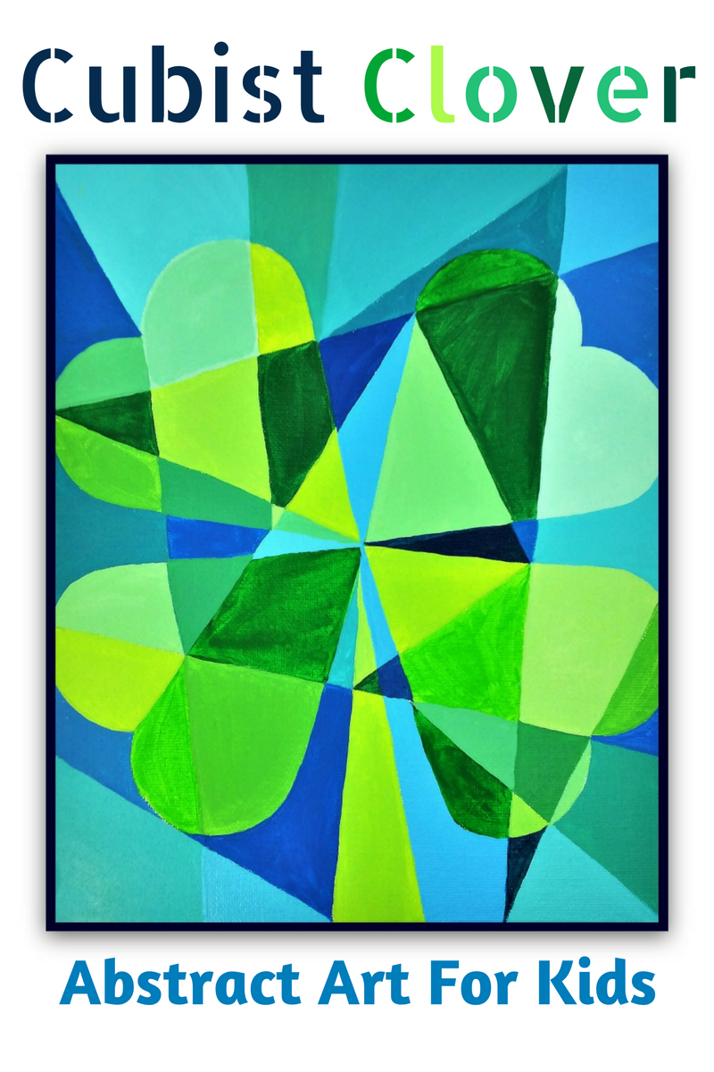 Cubist Clover St Patrick S Day Abstract Art For Kids
