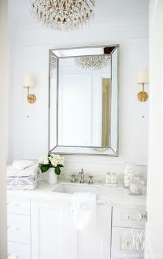 glam transitional guest bathroom reveal with marble silver and rh pinterest com