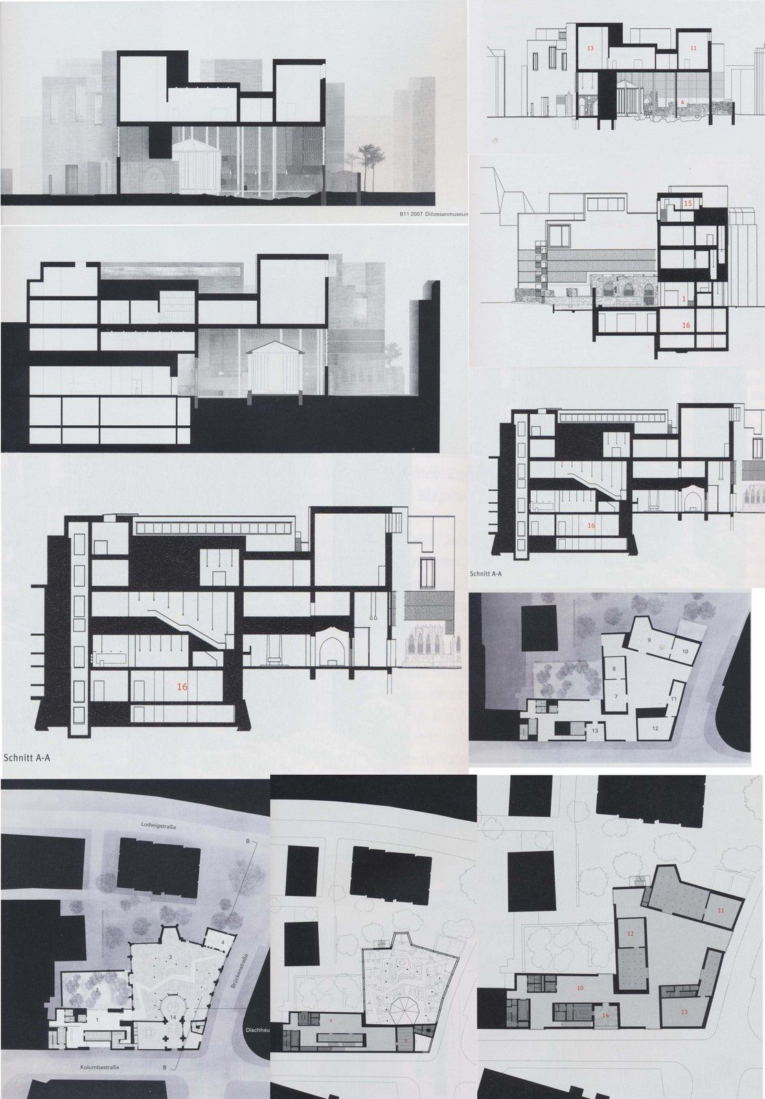 Brick peter zumthor kolumba architektur grafik layouts for Architektur layouts