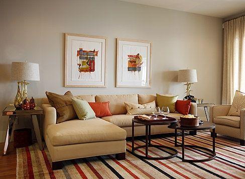 Orange accents - Sarah Richardson Design Hilltop
