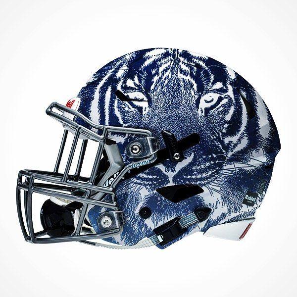 Memphis Tigers Sports College Football Helmets Football