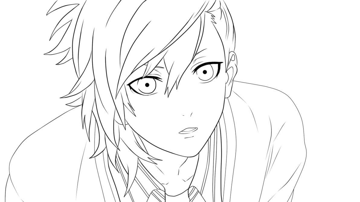 Image From Http Pre08 Deviantart Net 18e7 Th Pre F 2013 110 6 A Ai Mikaze Line Art By Xselphos D62c1yu Png Art Boy Drawing Anime
