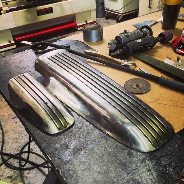 Cal Custom hood scoop turned into fender and taillight cover by