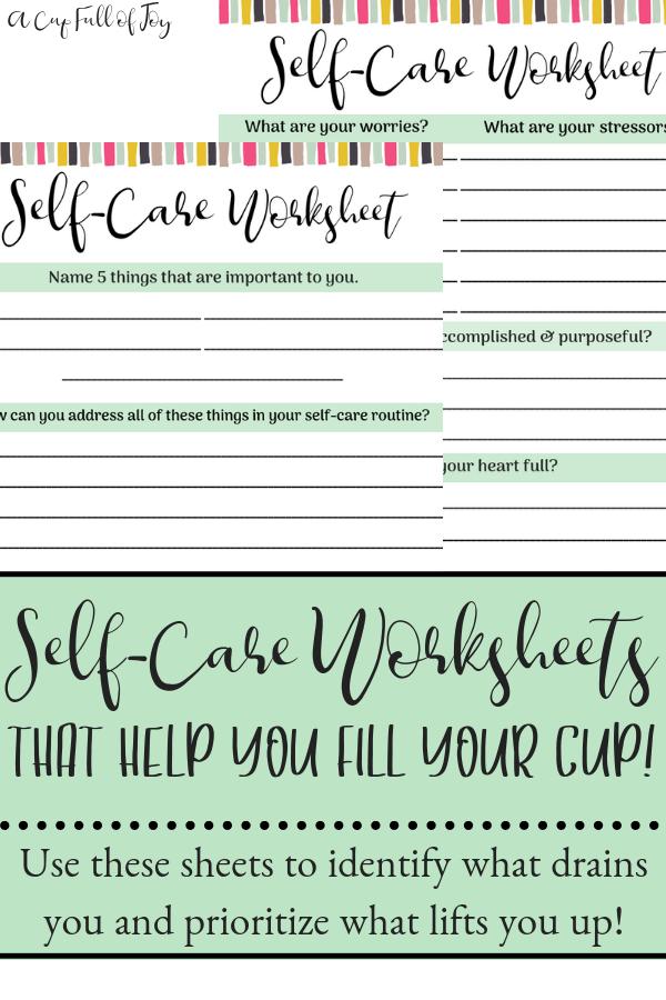 SelfCare Worksheet Etsy Self care worksheets, Self