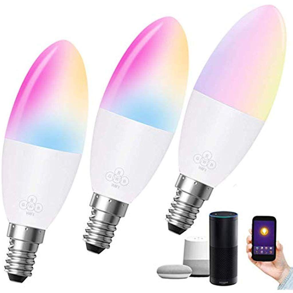 E14 Smart Wlan Gluhbirnewifi Kerzenlampe Edison Birne 6waquivalent 60w Wifi Intelligente Lampe Birne Farbwechsel Mit Alexa Google Start Einweggeschirr Handwerkzeug Und Meissel