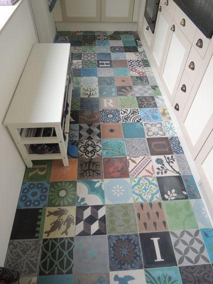 Keuken Vloer : Keukenvloer tegels