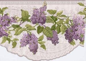 Details About Painted Floral Lilacs On Cracked Paint