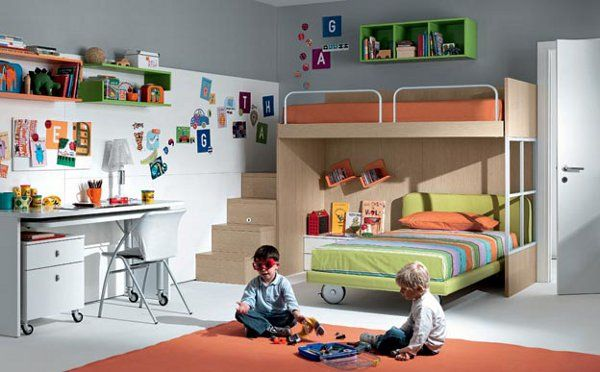 The Ideas To Share A Kids Bedroom With The Right Kids Furniture Gemeinsames Kinderschlafzimmer Kleines Schlafzimmer Kinder Kinderzimmer Fur Mehrere Kinder