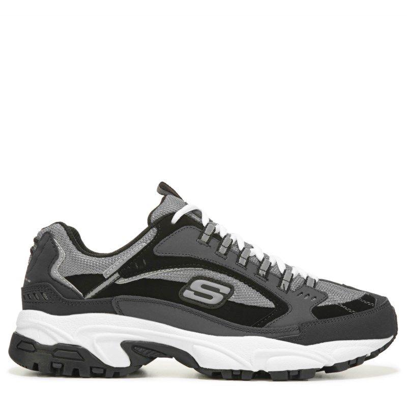 Skechers Men's Stamina Cutback Memory Foam Sneakers (Charcoal/Black)