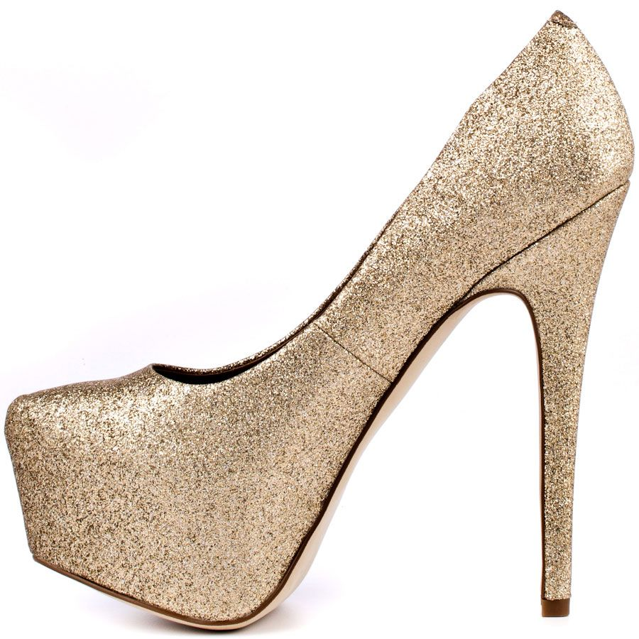 5542968c02d1 Steve Madden Dejavu - Gold Glitter I NEED these shoes