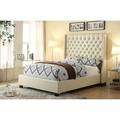Diamond Sofa Park Ave Upholstered Platform Bed U0026 Reviews   Wayfair