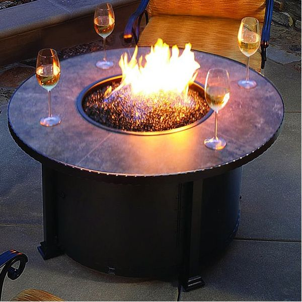 Fire Glass O W  Lee Santorini Chat Fire Pit Table