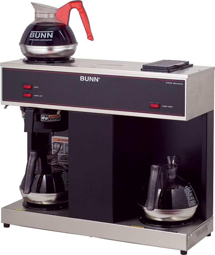 Bunn 04275 0031 Vps 12 Cup Pourover Coffee Brewer With 3 Warmers 120v Bunn Coffee Maker Commercial Coffee Makers Coffee Brewer