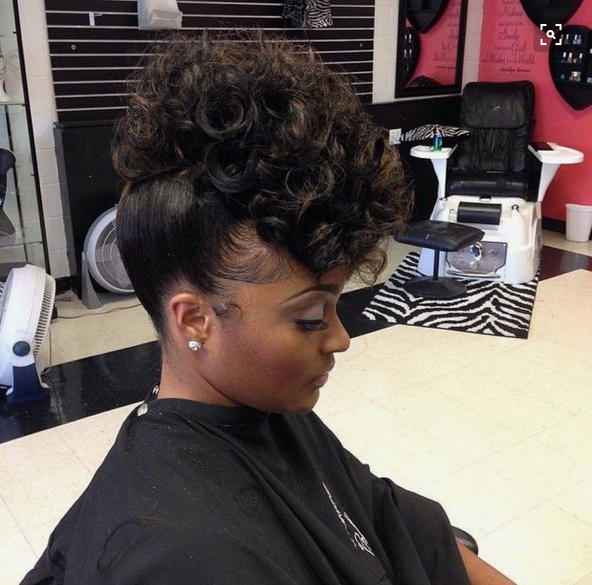 Birthday Behavior Updo Hairstyle Natural Hair Styles Black