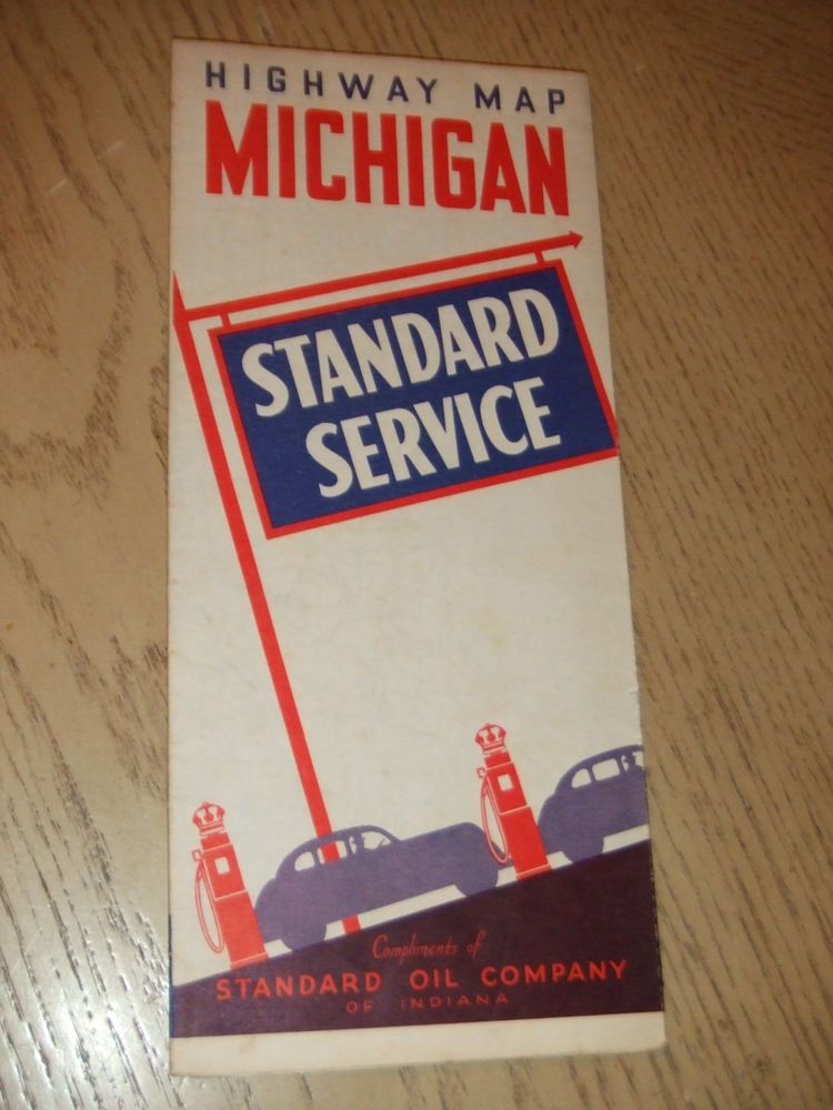 PaincorpsRareFinds VINTAGE 1938 Standard Oil Gas Michigan