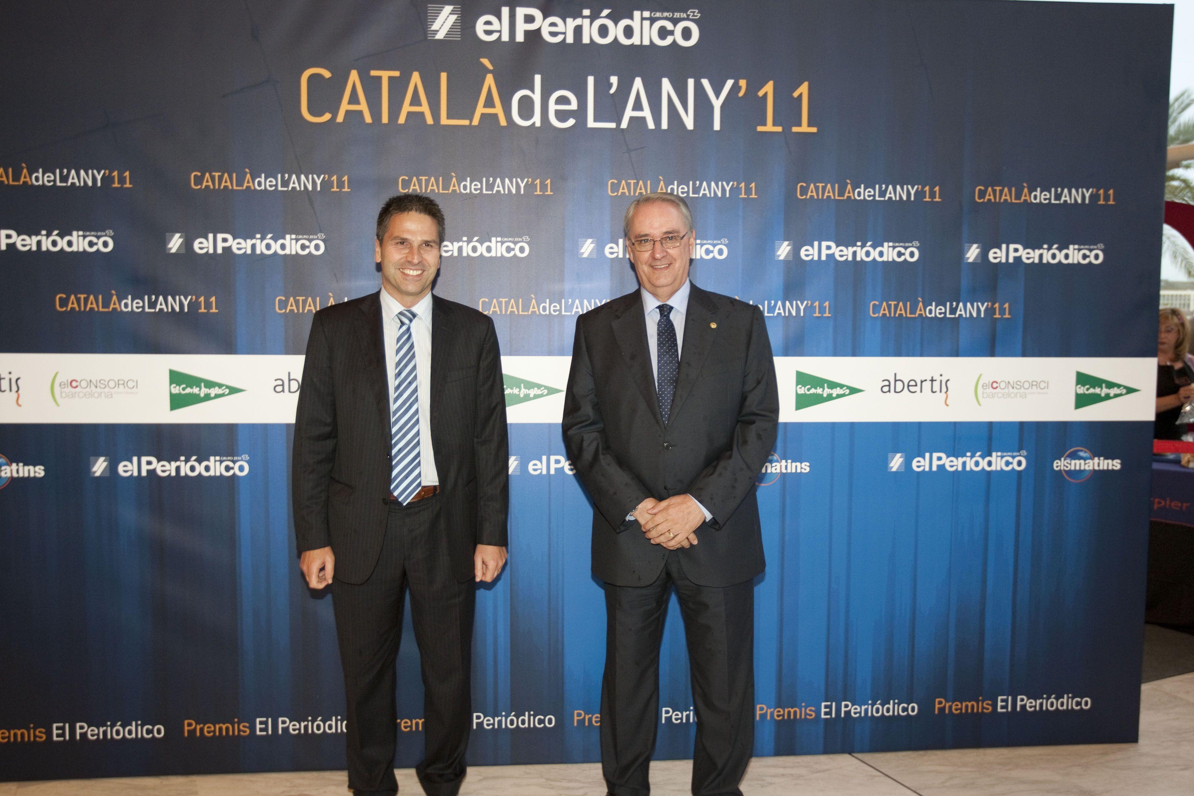 Jordi Romañach (izquierda) y Jordi Pintó, responsables de prensa y Relaciones públicas de El Corte Inglés / DANNY CAMINAL
