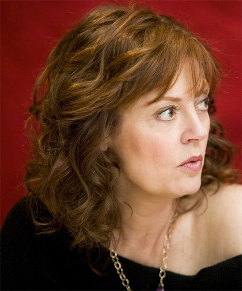 Susan Sarandon Medium Wavy Formal Hairstyle | Susan sarandon