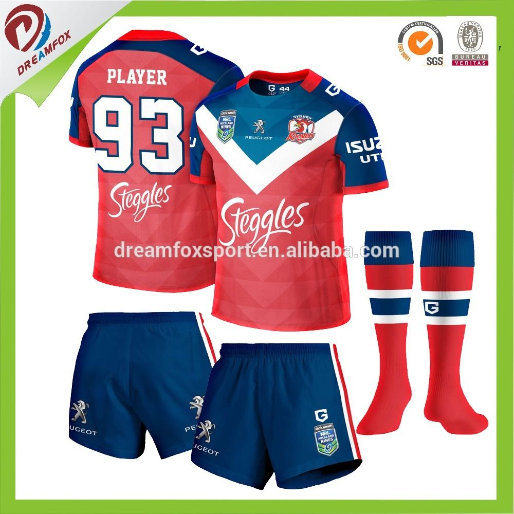 wholesale all sublimated custom rugby uniform design 037196c65