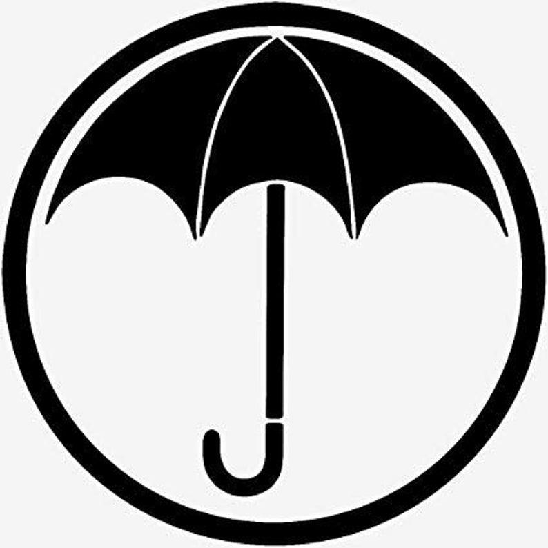 Umbrella Academy Vinyl Decal Sticker Logo Klaus Superhero In 2021 Academy Logo Umbrella Easy Drawings