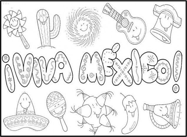 Independencia de mexico para colorear | Mexicano Mexican Party ...