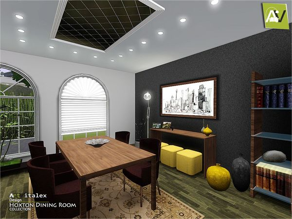 Hoxton Dining Room By ArtVitalex   Sims 3 Downloads CC Caboodle