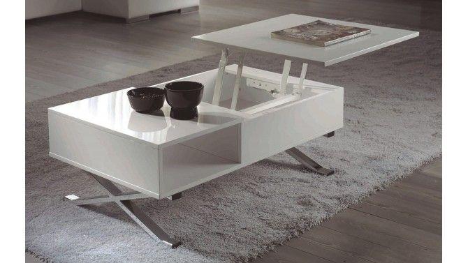 Table Basse Design Tablette Relevable Glenn Table Basse Table Basse Design Table De Salon