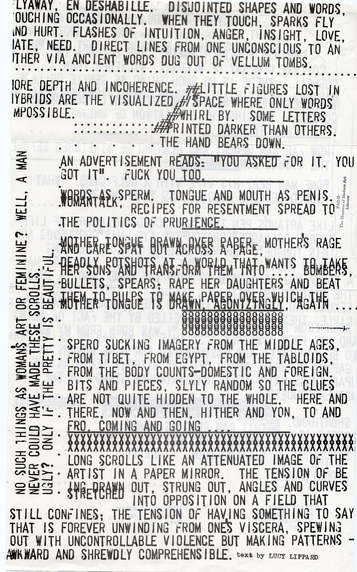 nancy spero torture of women a i r gallery text by lucy  torture of women a i r gallery 1976 text by lucy lippard