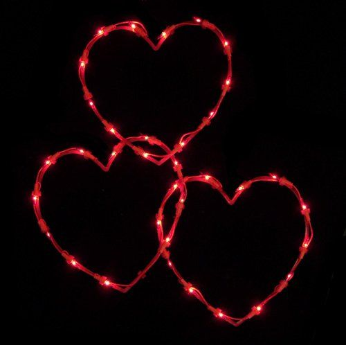 Schön Set Of 3 Red Lighted Valentines Day Twinkling Heart Icicle Lights Red Wire  Sienna Httpsmileamazoncomdpb007gc6ujurefcm_sw_r_pi_dp_b6svub
