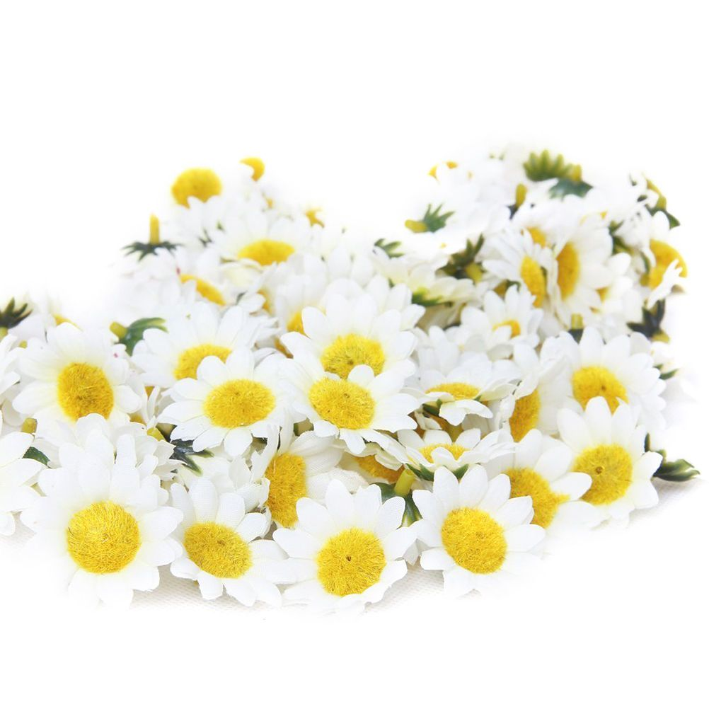 100x Artificial Fake Daisy Flowers Heads Home Party Wedding Hotel