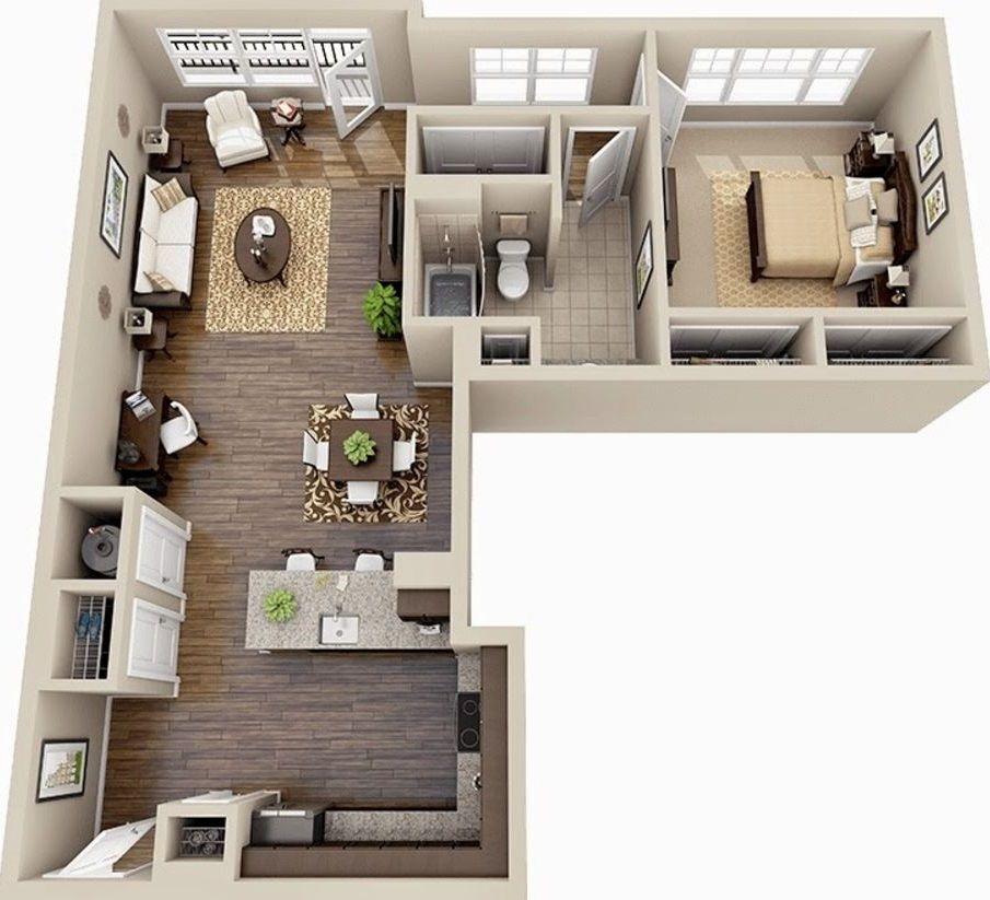 Planos de departamentos pequenos de 50m2 vivendi - Diseno de apartamentos pequenos ...