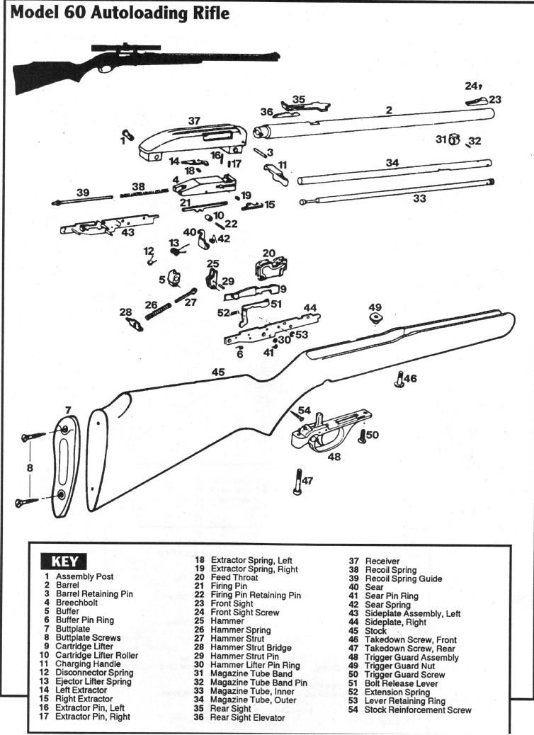 marlin model 60 rifle parts diagram