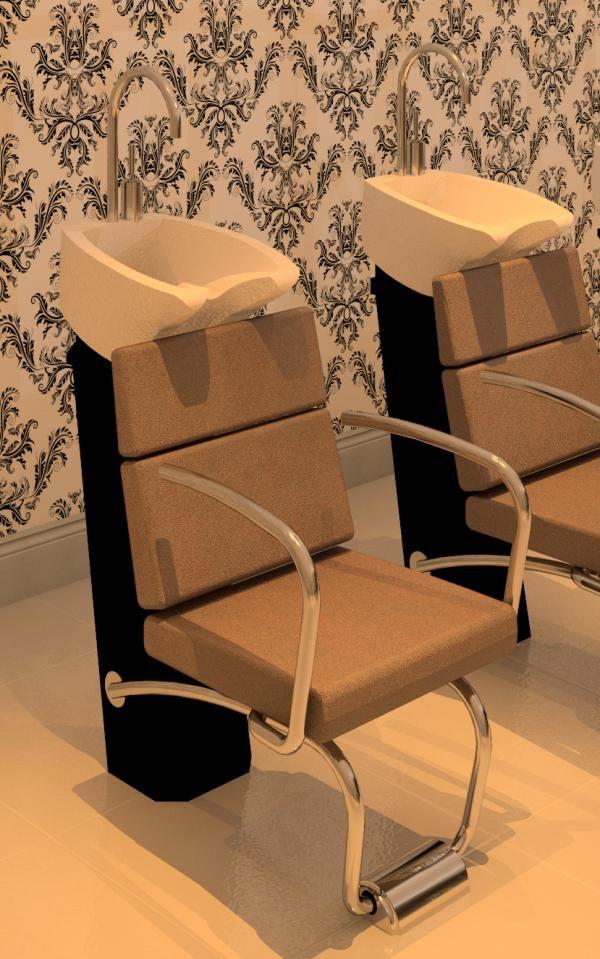 Salon Shampoo Chair Revit Models Em 2019 Revit E Salas