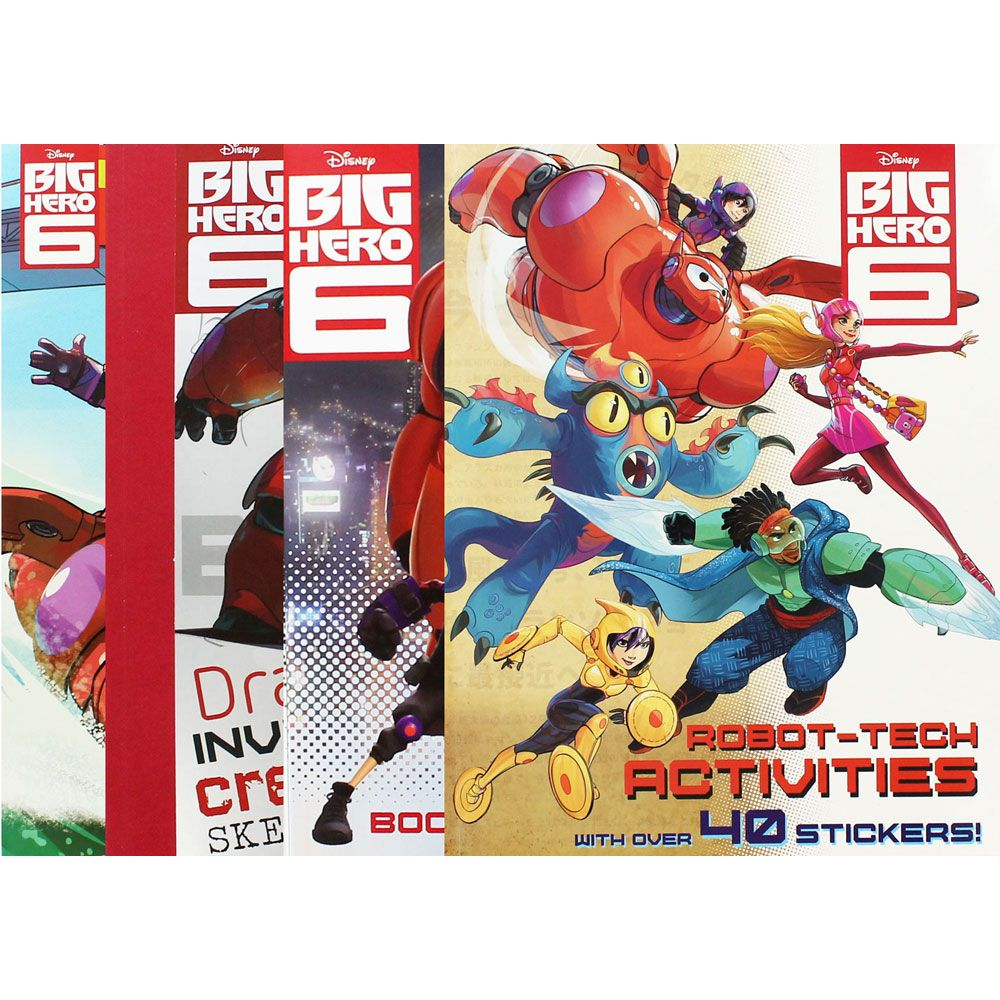 Big Hero 6 Super 4 Book Bundle