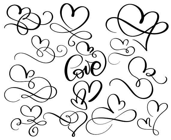 Download Love, Valentine's day, Valentine, Hearts, Doodle, Hand ...