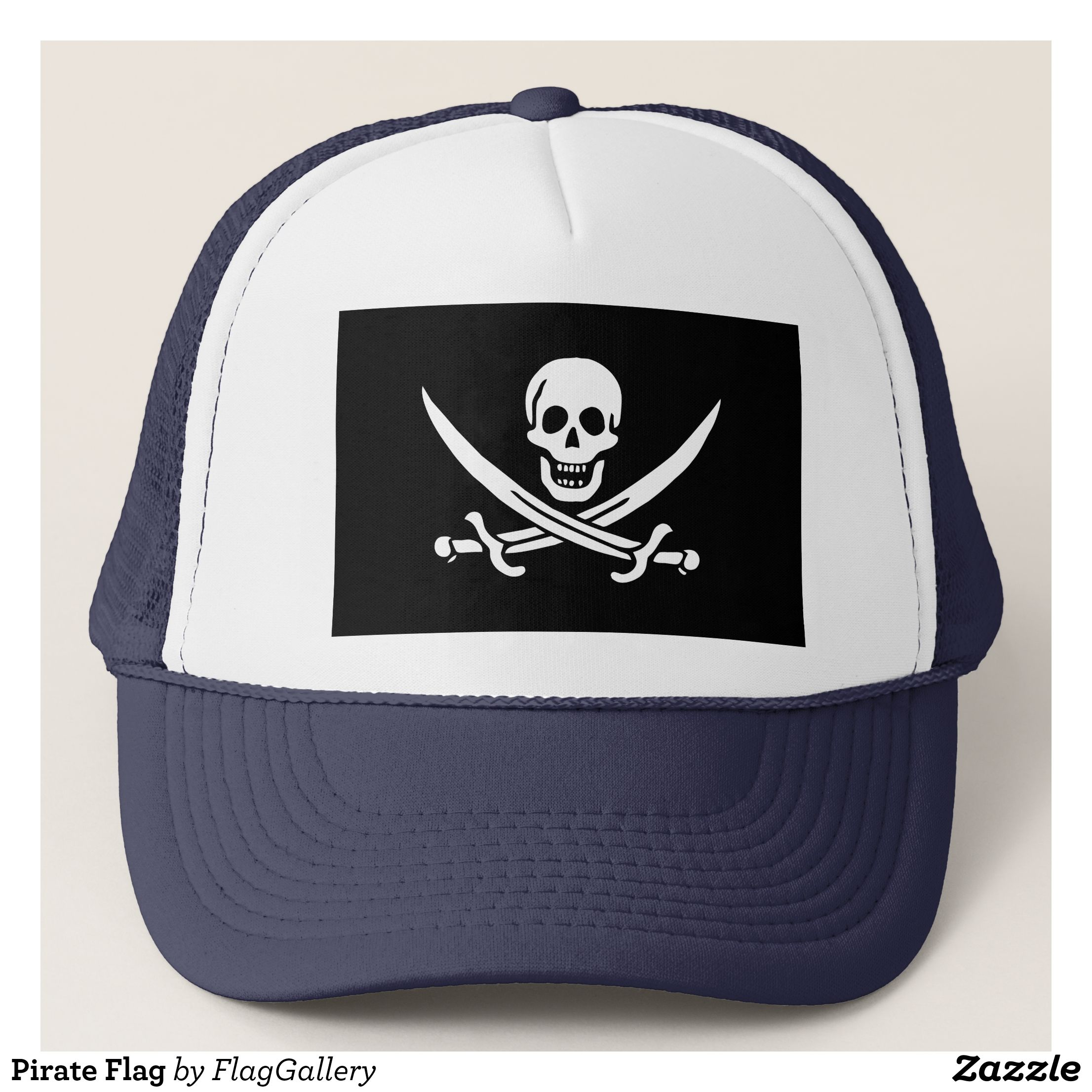a0597ed87b24cf Pirate Flag Trucker Hat - Urban Hunter Fisher Farmer Redneck Hats By  Talented Fashion And Graphic Designers - #hats #truckerhat #mensfashion  #apparel ...