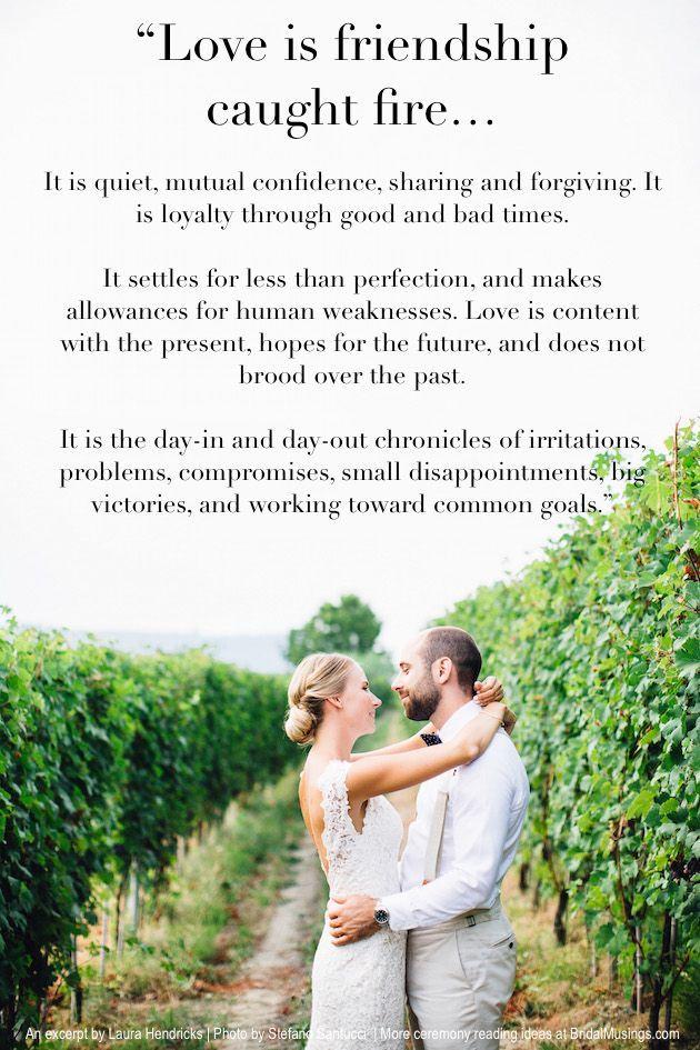 Wedding Quotes Romantic Ceremony Reading Ideas