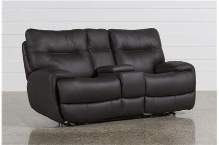 Oliver Graphite Power Reclining Loveseat W Console Power Reclining Loveseat Reclining Sofa Power Reclining Sofa