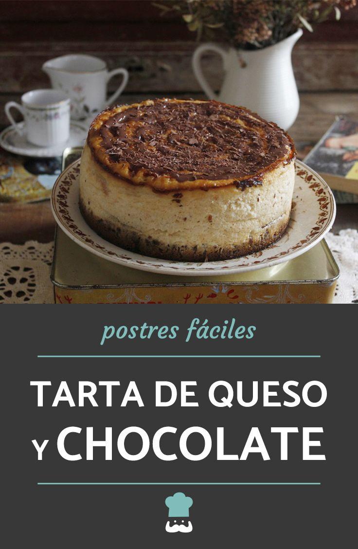Receta de Tarta de queso y chocolate al horno muy fácil