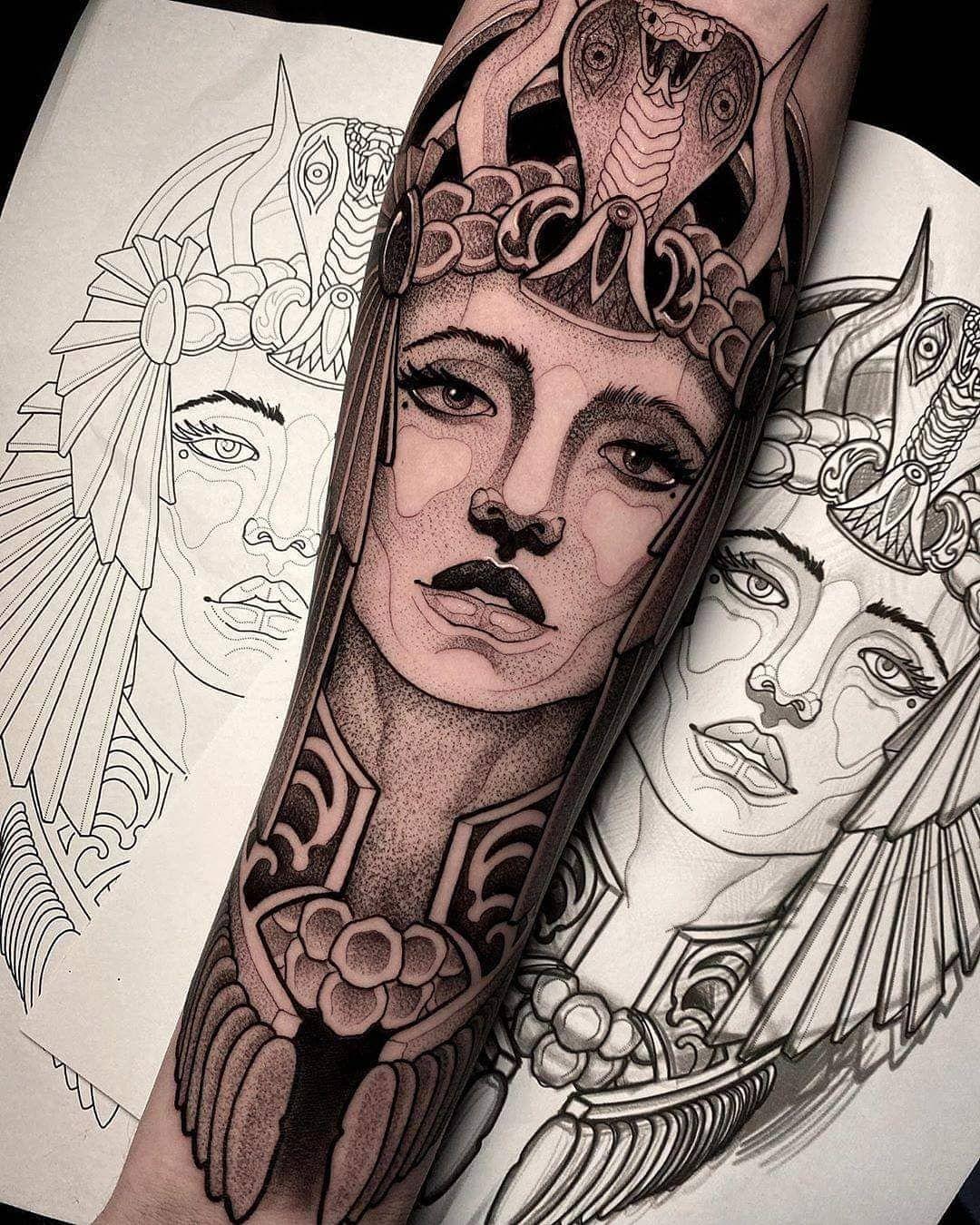 Pin de Reyna Gonzales em Tatzzz em 2020 Tatuagem egito