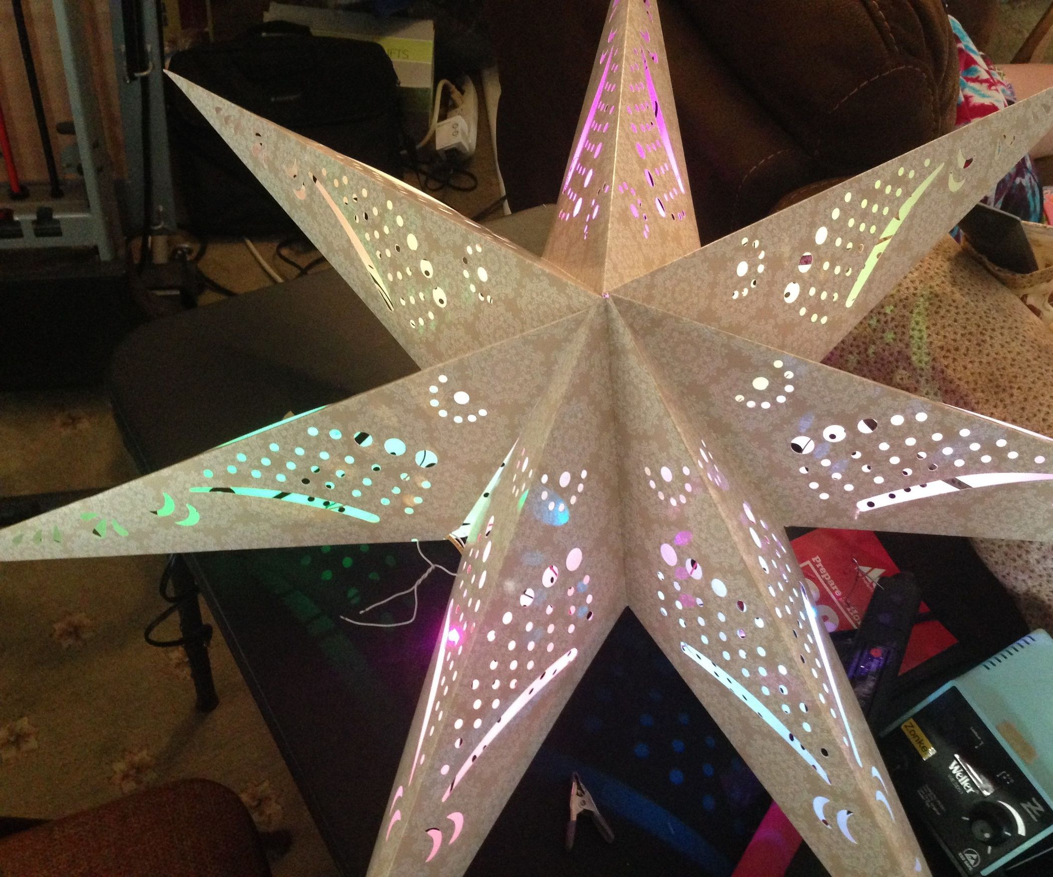 IKEA Star With ATtiny and NeoPixels Christmas