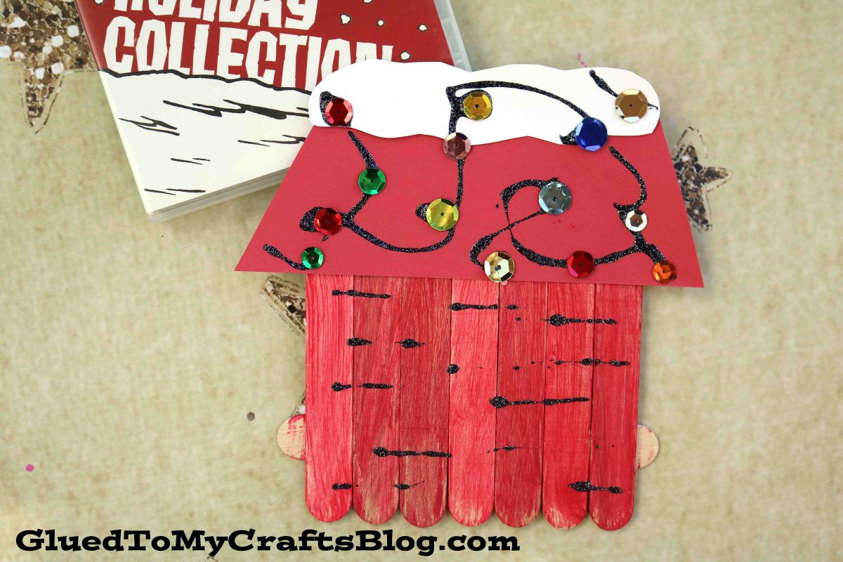 Popsicle Stick Snoopy S Dog House Kid Craft Charlie Brown