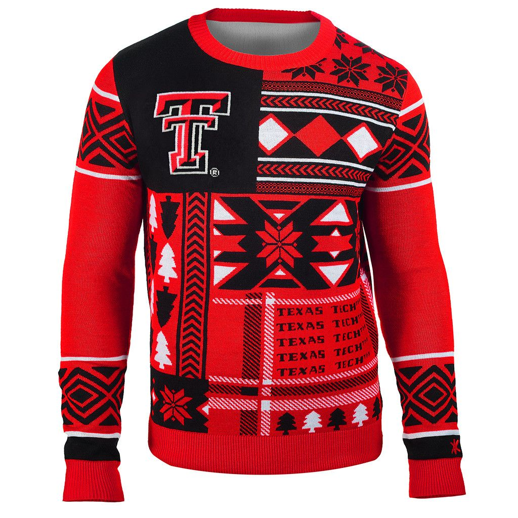 Texas Tech Patches Ugly Crew Neck Sweater from UglyTeams