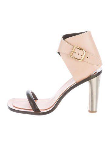 dac1dcf1000e Céline Leather Ankle Strap Sandals